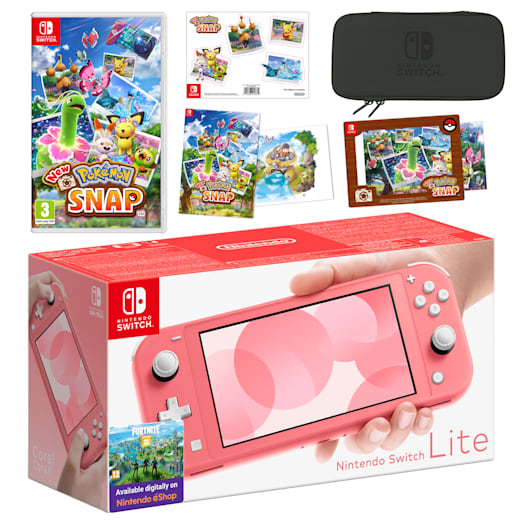 Nintendo Switch Lite (Coral) New Pokémon Snap Pack