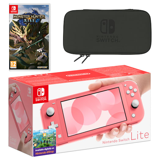 Nintendo Switch Lite (Coral) MONSTER HUNTER RISE Pack