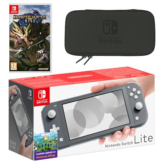 Nintendo Switch Lite (Grey) MONSTER HUNTER RISE Pack