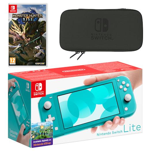 Nintendo Switch Lite (Turquoise) MONSTER HUNTER RISE Pack