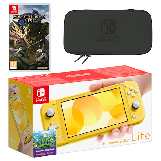 Nintendo Switch Lite (Yellow) MONSTER HUNTER RISE Pack