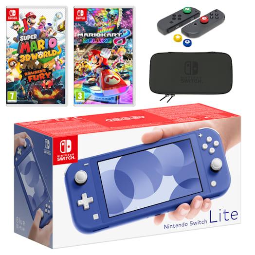 Nintendo Switch Lite (Blue) Mario Mega Pack image 1