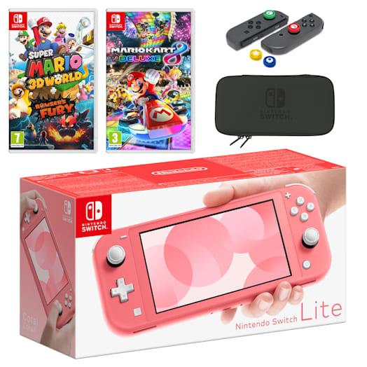 Nintendo Switch Lite (Coral) Mario Mega Pack image 1
