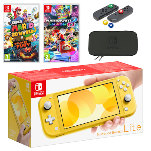 Nintendo Switch Lite (Yellow) Mario Mega Pack