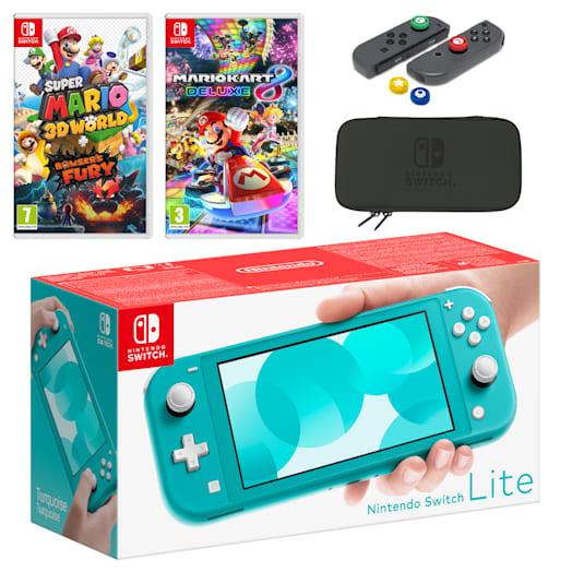Nintendo Switch Lite (Turquoise) Mario Mega Pack