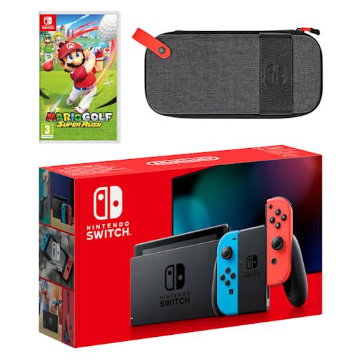 Nintendo Switch (Neon Blue/Neon Red) Mario Golf: Super Rush Pack