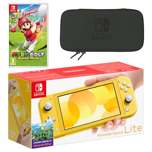 Nintendo Switch Lite (Yellow) Mario Golf: Super Rush Pack