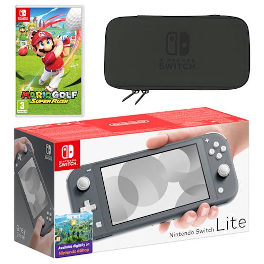 Nintendo Switch Lite (Grey) Mario Golf: Super Rush Pack