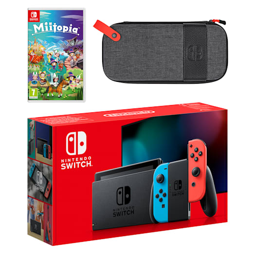 Nintendo Switch (Neon Blue/Neon Red) Miitopia Pack