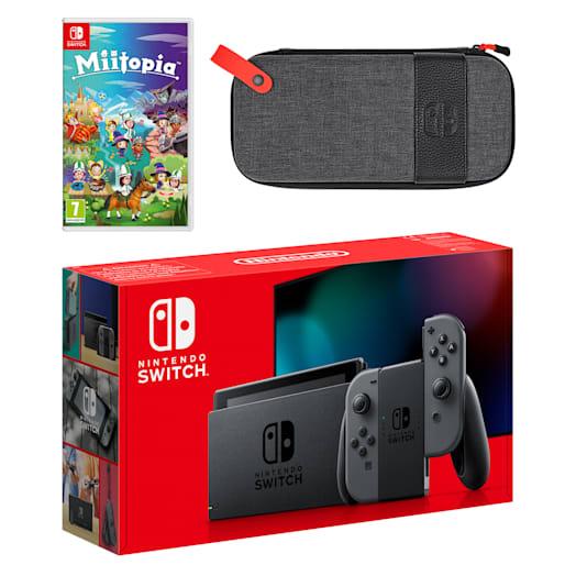 Nintendo Switch (Grey) Miitopia Pack