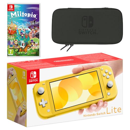 Nintendo Switch Lite (Yellow) Miitopia Pack