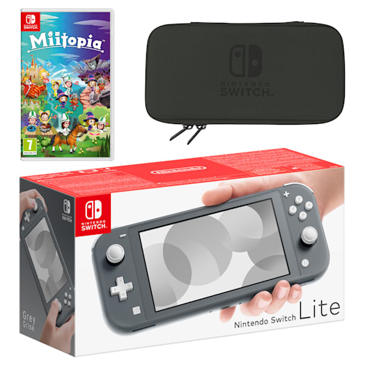 Nintendo Switch Lite (Grey) Miitopia Pack