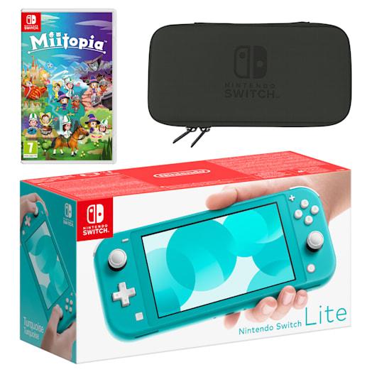 Nintendo Switch Lite (Turquoise) Miitopia Pack