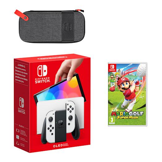 Nintendo Switch – OLED Model (White) Mario Golf: Super Rush Pack