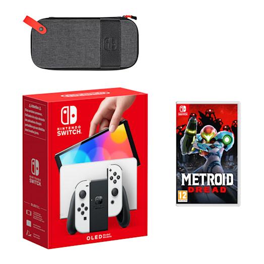 Nintendo Switch – OLED Model (White) Metroid Dread Pack