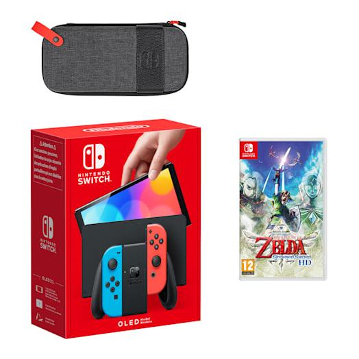 Nintendo Switch – OLED Model (Neon Blue/Neon Red) The Legend of Zelda: Skyward Sword HD Pack