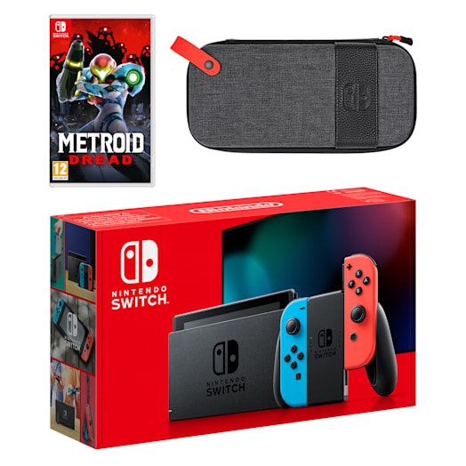 Nintendo Switch (Neon Blue/Neon Red) Metroid Dread Pack