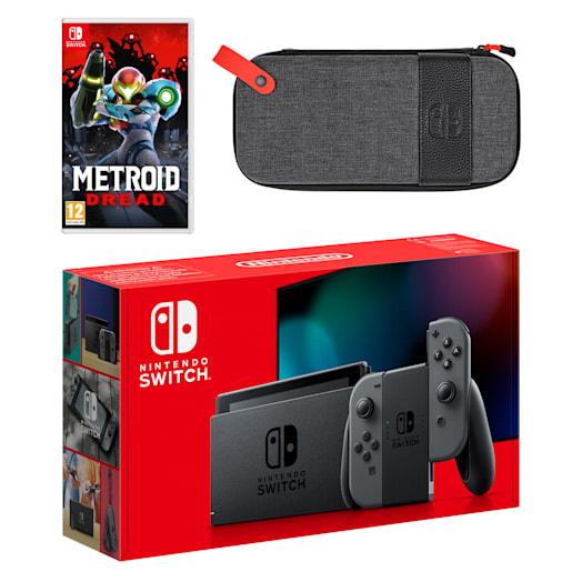 Nintendo Switch (Grey) Metroid Dread Pack