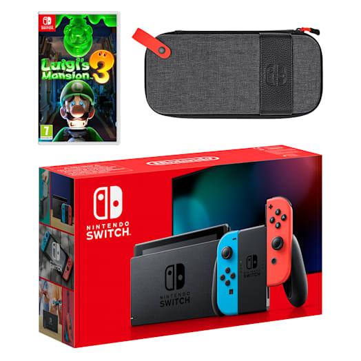 Nintendo Switch (Neon Blue/Neon Red) Luigi's Mansion 3 Pack