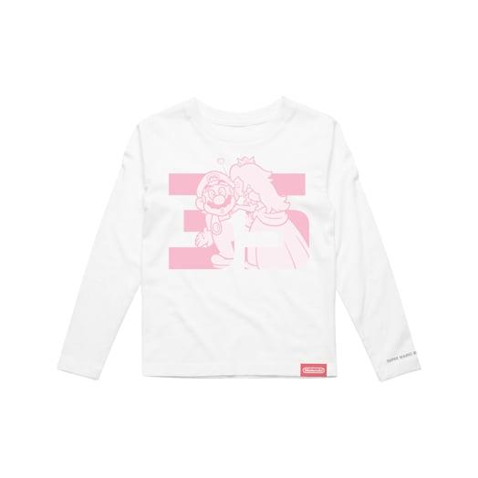 Mario and Peach Long Sleeve T-Shirt (Kids) - Super Mario Bros. 35th Anniversary