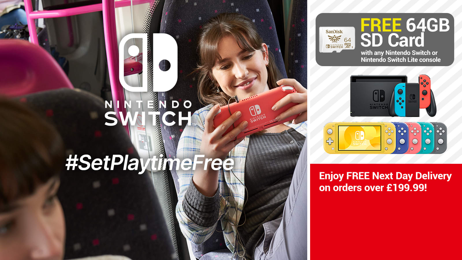 Set Playtime Free with Nintendo Switch