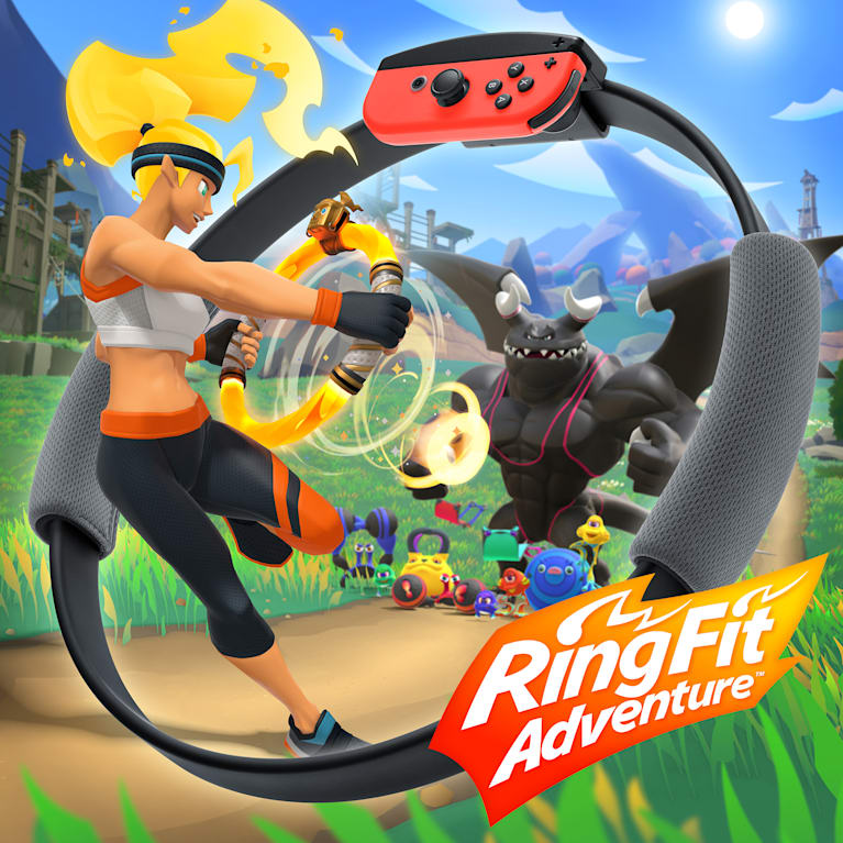 Main illustration for Ring Fit Adventure