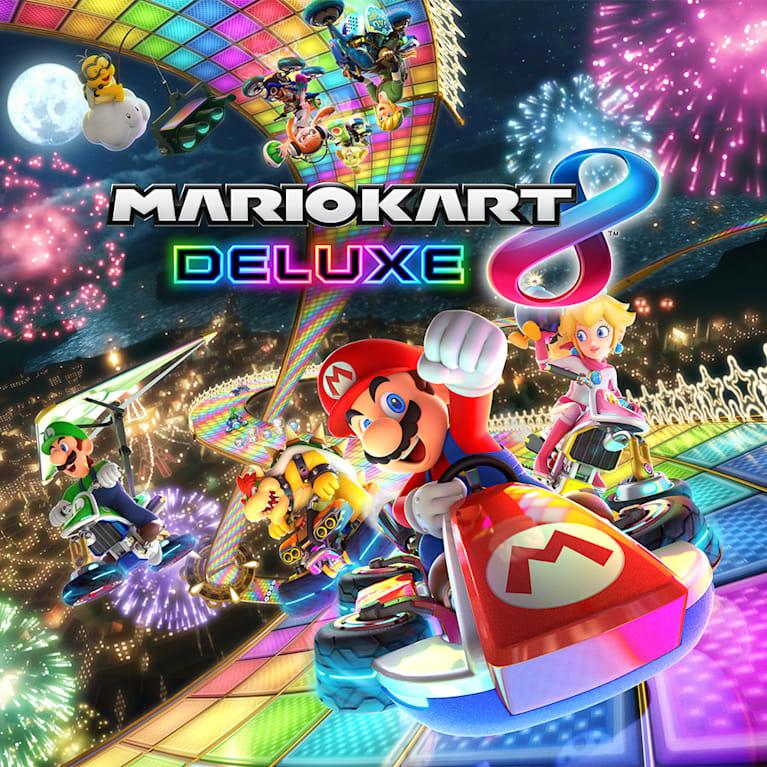 Main illustration for Mario Kart 8 Deluxe