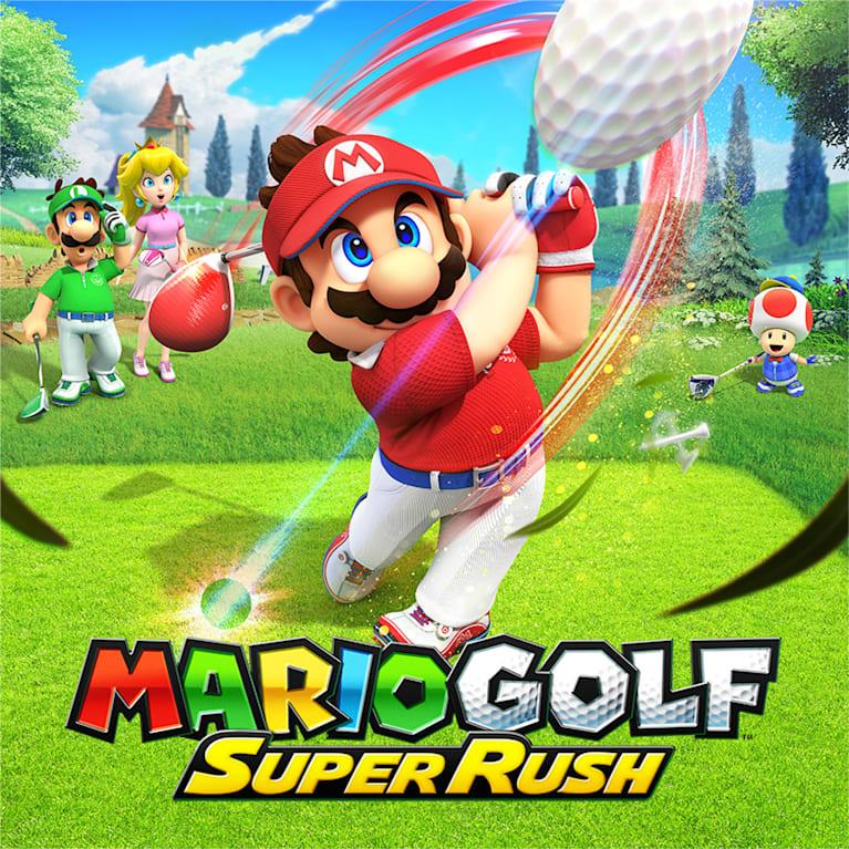 Main illustration for Mario Golf: Super Rush