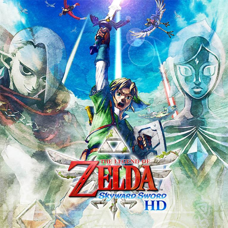 Main illustration for The Legend of Zelda: Skyward Sword HD